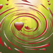 Heart in a whirlwind — Stock Photo