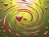 Coeur dans un tourbillon — Photo