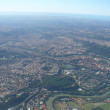 Views from airplane flight - Rome - Stock Photo