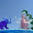 Elephants - funny figures - Photo