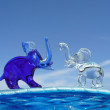 Elephants - decorative figurines - Stock Photo