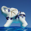 Elephant - cheerful decorative figurine - Stock Photo