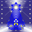 Christmas tree - illustration abstraction and wish - Foto Stock