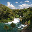 Krka valley with several waterfalls - Stock Photo