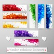 Grunge rainbow colors banners — Stock Vector