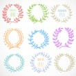 Colored circle floral borders. — Stock Vector #35335843