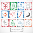 Stock Vector: Symbols of Christmas.
