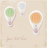 Card with vintage balloons. — Stock Vector