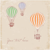 Card with vintage balloons. — Wektor stockowy