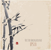 Background with bamboo — Vettoriale Stock