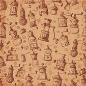 Tło z stare młynki do kawy. — Wektor stockowy