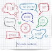 Pen sketch speech — Vecteur