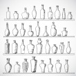 Sketch bottles collection. — Stock Vector