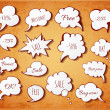 Hand-drawn speech bubbles — Stock Vector