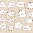 Hand-drawn speech bubbles — Stock Vector #35659955