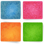 Set of ornated square backgrounds. — Stock Vector
