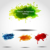 Set of bright grunge backgrounds in autumn colors. — Stock Vector