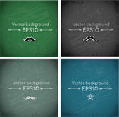 Set of blackboard backgrounds. — Stock Vector