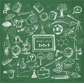 Back to school big doodles set — Stockvektor