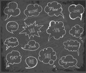 Povrchní řeči a myšlení bubliny — Stock vektor
