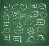 Burbujas de discurso y pensamiento de tinta — Vector de stock