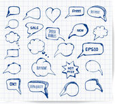 Ink speech and thought bubbles — Stock Vector