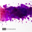 Background with big purple splash. — Stock Vector