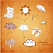 Weather icons set. — Stock Vector #35663425