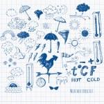 Set of weather symbols sketch — Stock Vector #35663533