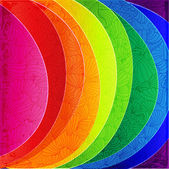 Rainbow background wih pattern. — Stock Vector
