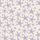 Seamless background with starfishes. — Stock Vector