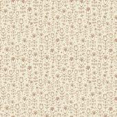 Sömlös brun blommiga bakgrund. — Stockvektor