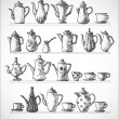 Sketches of coffee objects. — Imagen vectorial