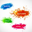 Set of season vector backgrounds  — Stock Vector