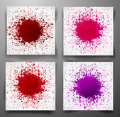 Set of backgrounds with big splashes — Stock Vector