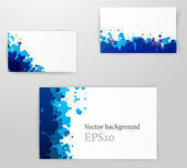 Set of Bright grunge backgrounds — Stock Vector
