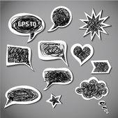 Doodle speech bubbles — Stockvector