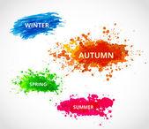 Set van seizoen vector achtergronden — Stockvector
