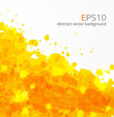 Big yellow splash on white background. — Stock Vector