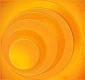 Orange Circles abstract vector background — Stock Vector