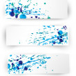 Set of vector inky colorful banners — Stock Vector