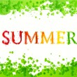 """Summer"" vector lettering — Stock Vector"