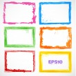 Set of colorful grunge frames — Stock Vector