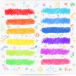 Set of colored doodle sketch banners — Stock Vector #36412405