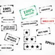 Set of grunge rubber stamps — Stock Vector