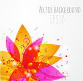 Colorful floral background — Stock Vector