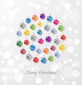 Card with jewel Christmas ball — Stock Vector