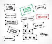 Conjunto de sellos de caucho grunge — Vector de stock