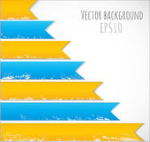Background with aged blue and yellow ribbons — Stok Vektör