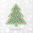 Greeting card with Christmas tree — Stock Vector